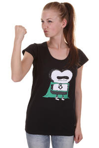 Cleptomanicx Super Toast Sccop T-Shirt girls (black)