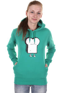 Cleptomanicx Toast Hoodie girls (turquoise)