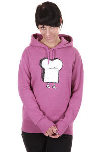 Cleptomanicx Toast Hoodie girls (heather berry)