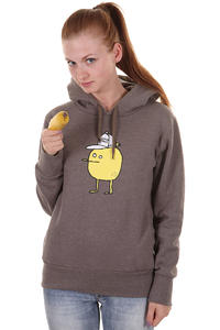 Cleptomanicx Zitrone Hoodie girls (heather pepper)