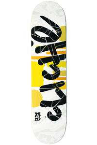 "Cliché Team Tear Series Pre-Gripped 7.5"" Deck (yellow white)"