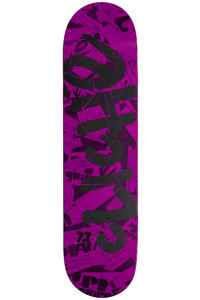 Clich Team Handwritten Pre-Gripped 7.75&quot; Deck (pink)