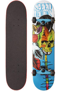 "Speed Demons Native Skull 7.625"" Complete-Board (brown blue)"