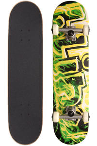 Blind GITD Fire 7.75&quot; Complete-Board (black green)