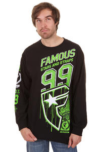 Famous Side Car Longsleeve (black lime white)