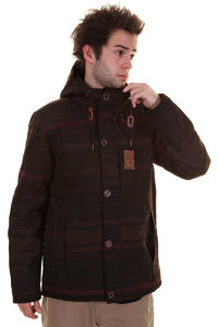 Ragwear Appa Stripes Jacket (burgundy stripes)