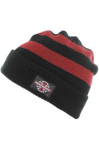 Independent Pier Stripe Mütze (cardinal red black)