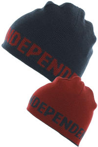 Independent Double Mtze reversible  (navy cardinal red)