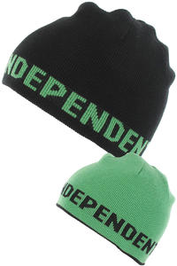 Independent Double Mütze reversible  (black kelly green)