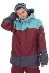 Volcom Threes Snowboard Jacke insulated  (maroon)