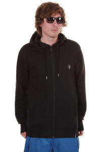 Volcom Sea Town Mod Fleece Snow Zip-Hoodie (black)