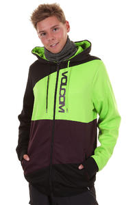 Volcom Cane Hydro Fleece Snow Zip-Hoodie (lime)