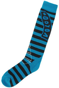 Volcom Stripe Socks US 5-13  (cyan)