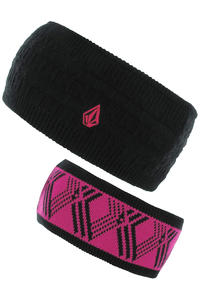 Volcom Prime Stirnband reversible  girls (black)