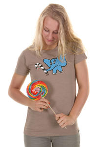 Trap Skateboards Apricandy T-Shirt girls (heather stuccu)