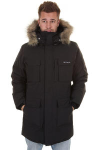 Carhartt Bering Jacke (down filled black grey)