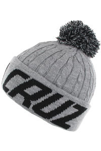 Santa Cruz XL Stripe Beanie (heather grey pewter)