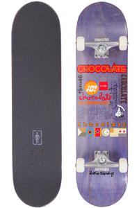 "Chocolate Eldridge Logo Blitz 7.75"" Complete-Board (natural)"