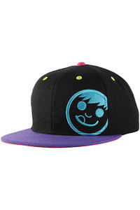Neff Corpo Snapback Cap (black purple cyan)
