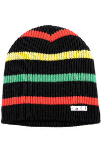 Neff Daily Stripe Beanie (black rasta)
