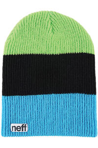 Neff Trio Beanie (cyan black slime)