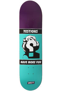 "Sweet Posters Fun 7.75"" Deck (purple turquoise)"