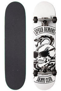 Speed Demons Skate Club Biker 7.5&quot; Complete-Board (white black)