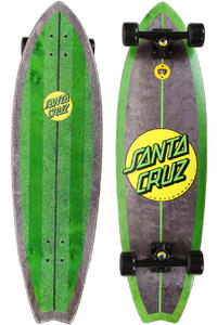 "Santa Cruz Woody Shark 10"" x 36"" Cruiser (green)"