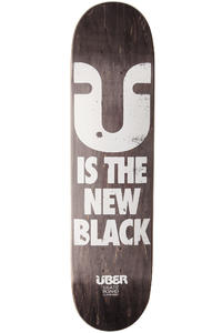 "Über Skateboards New Black 7.75"" Deck (black)"