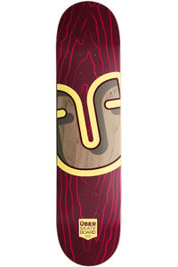 "Über Skateboards Trunk 7.5"" Deck (red)"