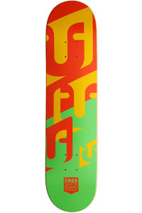 "Über Skateboards Woodcraft 7.5"" Deck (red green)"