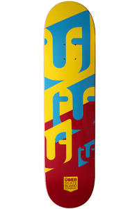 ber Skateboards Woodcraft 7.75&quot; Deck (yellow red)