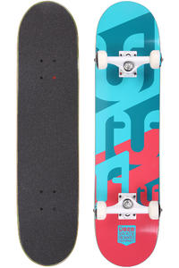 "Über Skateboards Woodcraft 7.625"" Komplettboard (blue red)"