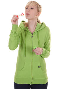 Volcom Timesoft Fleece Zip-Hoodie girls (lemon green)