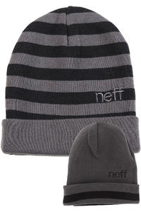 Neff Bumble Beanie reversible  (charcoal black)