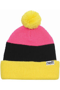 Neff Snappy Beanie (yellow black pink)