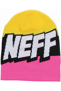 Neff Cartoon Beanie (pink black yellow)