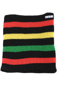 Neff Daily Stripe Gaiter Neckwarmer (black rasta)