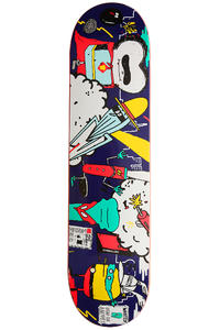 "Cleptomanicx Superhelden 7.875"" Deck (blue)"