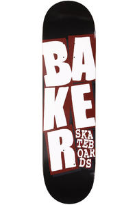 "Baker Team Stacked 8.25"" Deck (black red)"
