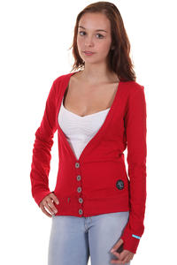 Shisha Plietsch Strickjacke girls (chilli red)