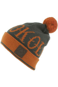 Turbokolor Bobble Beanie (orange grey)