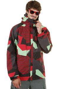 686 Mannual Mix Snowboard Jacket (red mix combo)