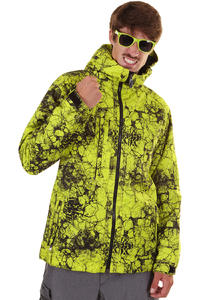 686 Mannual Cracked Snowboard Jacke (acid cracked skulls)