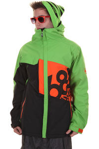 686 Mannual Iconic Snowboard Jacke (grass coloublock)