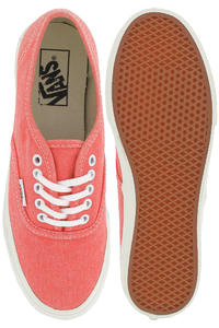 Vans Authentic Slim Schuh girls (washed hot coral)