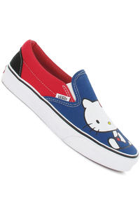 Vans Classic Slip-On Schuh girls (hello kitty blue red)