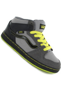 Vans Edgemont Suede Leather Shoe kids (grey black neon green)