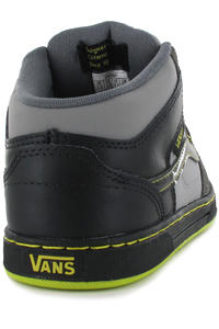 Vans Edgemont Suede Leather Schuh kids (grey black neon green)