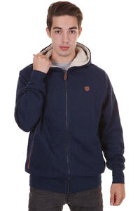 Makia Zip Up Zip-Hoodie (navy melange)